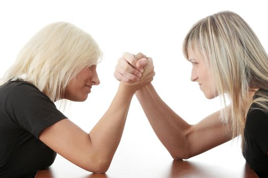 Two woman competition