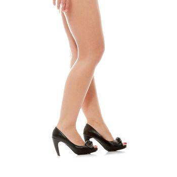 Beautiful legs in high heels