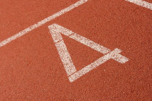 fourth  lane of race track detail sports concepts