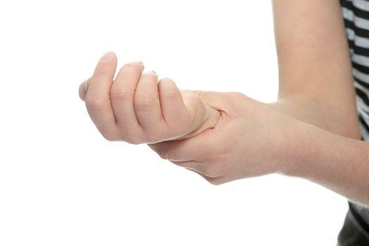Wrist pain concept