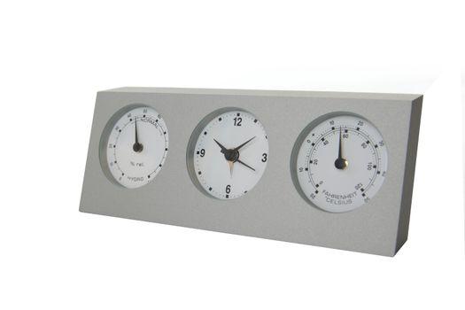 Analog weather station isolated on white background