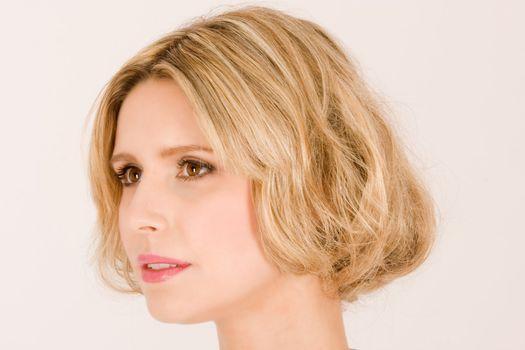 Portrait of a beautiful blond woman's head