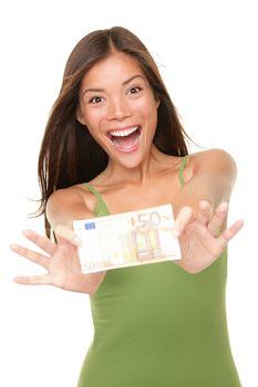 Euro money woman