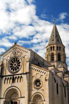 Gothic church in Nimes France