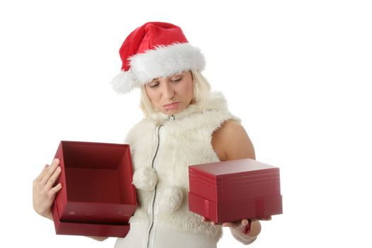 Female in santa hat
