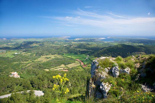 green Menorca coastline