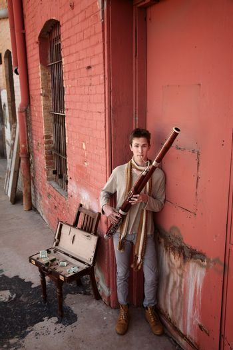 Bassoon Musician In Indian Attire