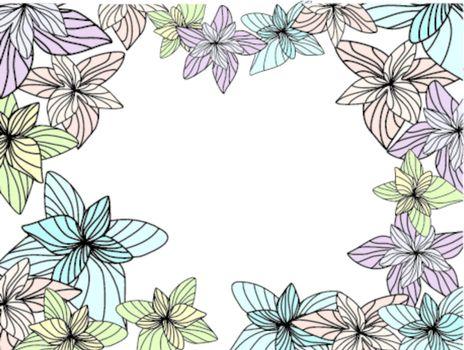 abstract flower frame vector illustration