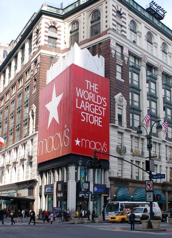 Famous shoppingmall in NYC