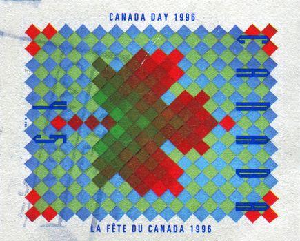 CANADA - CIRCA 1996: Provincial and Territorial flags. New Brunswick, circa 1996.