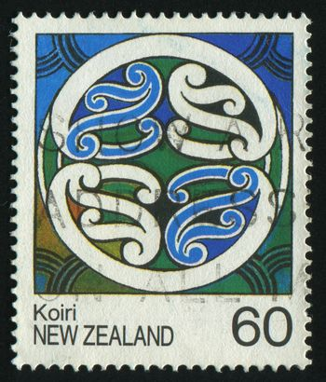 NEW ZEALAND - CIRCA 1983: The New Zealand ornament, circa 1983.