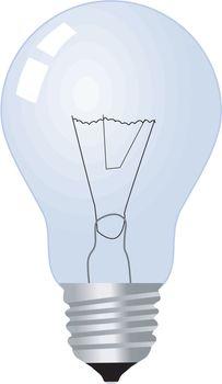 bulb lamp on white
