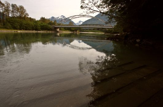 Reflections on the Skeena River in British Columbia