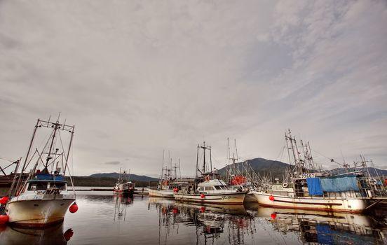 Fishingboats dock at Prince Rupert