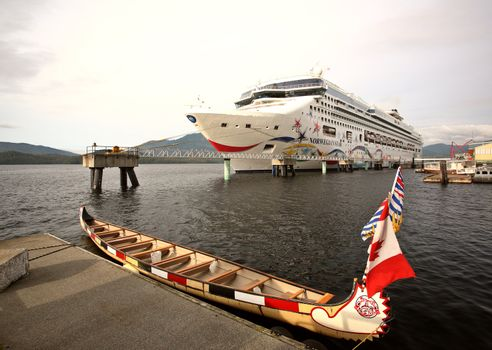 Cruise liner at dock in Prince Rupert
