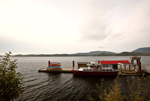 Cruise boast at dock in Prince Rupert