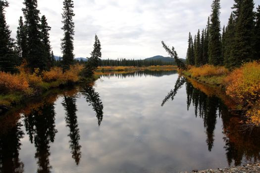Water reflections in Northern British Columbia