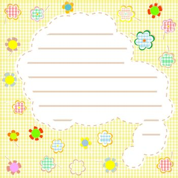 vector Gift. flowers and a note autumn background