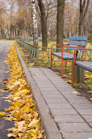 autumnal boulevard in Moscow