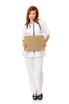 Unemployed female doctor