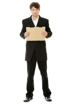 Unemployed businessman