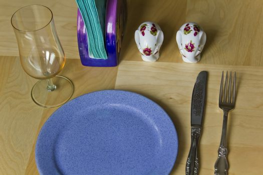 cutlery on place at the table