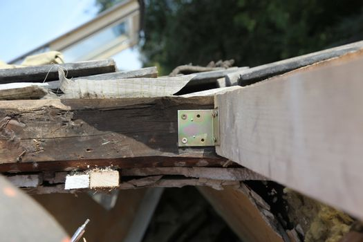 Beams for roof window installation