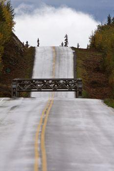 Bridge along British Columbia highway