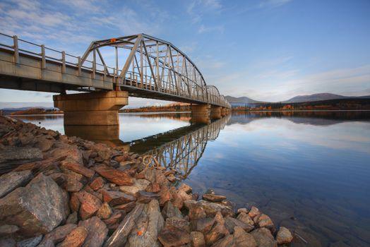 Teslin Lake bridge on Alaska Highway