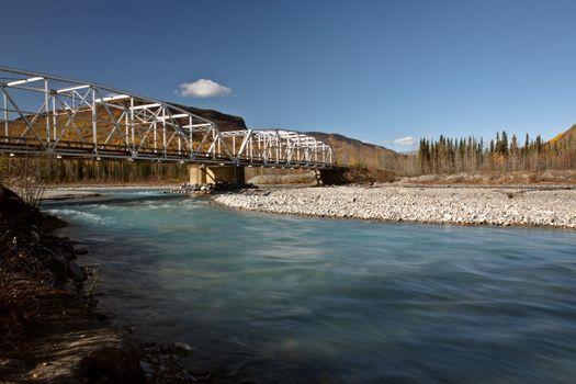 Toad River bridge in British Columbia