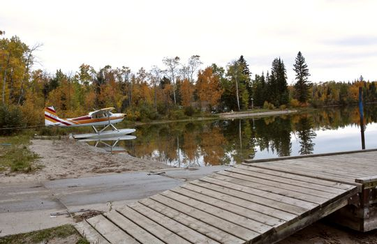 Float plane at Matheson Lake in Meadow Lake Park