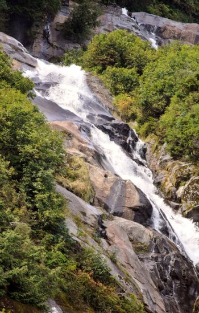 Tangle Creek Falls in scenic Alberta