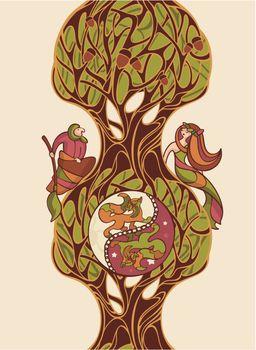 fairytale vector illustration