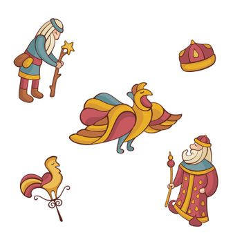 set of fairytale characters