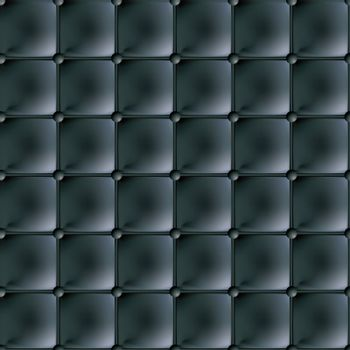 Black leather material background seamlessly tiled with buttons