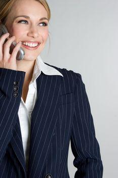 Beautiful cell phone businesswoman talking