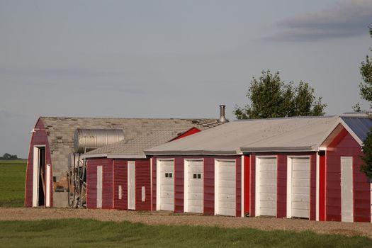 neat farm buildings in Saskatchewan