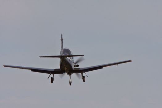 Harvard trainer coming in to land