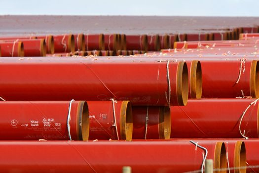 Piled up underground pipes