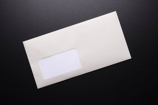 envelope and blank or empty copyspace for your text message