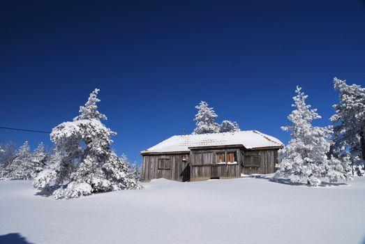 Mountain mountain house