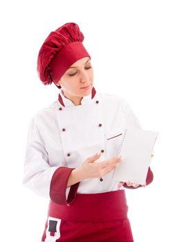 Chef presenting new menu