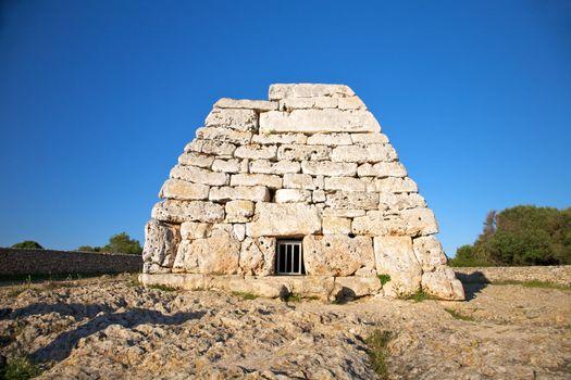 close entry of prehistoric naveta