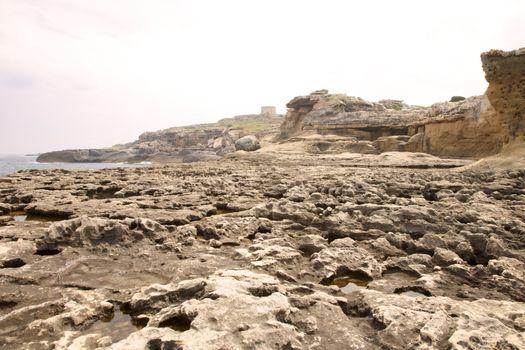 erosioned rock reef