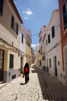 walking at Ciutadella street