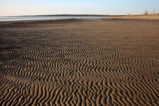 Sand flats along shore of Lake Winnipeg