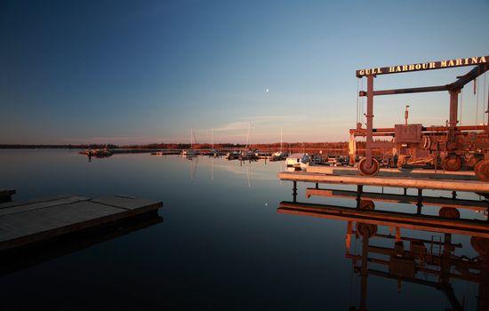 marina at Hecla in Manitoba