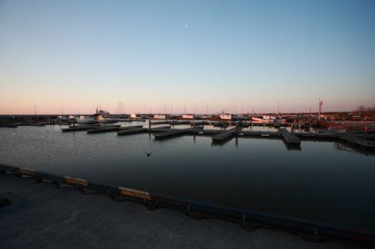 Gimli marina on Lake Winnipeg