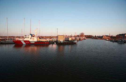 Commercial fishing boats at Gimli