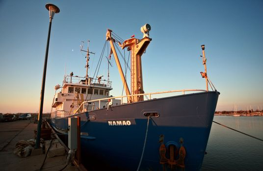 Commercial fishing boat at Gimli
